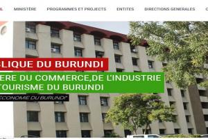 Burundi ministry of Trade Website